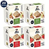 Quaker Baked Squares, Soft Baked Bars, Apple Cinnamon & Strawberry, 5 Bars (Pack of 4) ( Packaging...