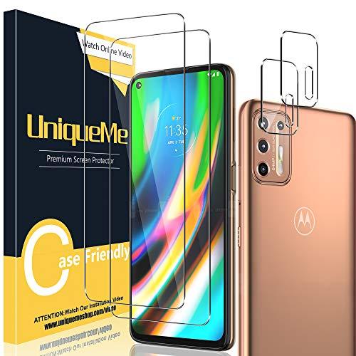 UniqueMe [2 Pack] Protector de Pantalla Compatible con Motorola Moto G9 Plus...