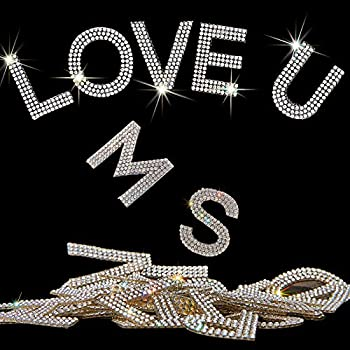 Locacrystal 34Pcs Bling Rhinestone Alphabet Letter Stickers A-Z Letters Self-Adhesive hotfix Crystal Rhinestones Word Stickers for Cars Arts Crafts Clothing DIY Decoration White/Silver