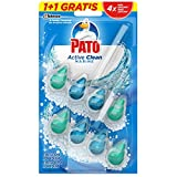 Pato - Active Clean colgador para inodoro, frescor intenso, perfuma y desinfecta, aroma Marine, (duo...