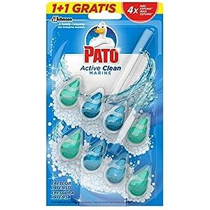 Pato - Active Clean colgador para inodoro, frescor intenso, perfuma y desinfecta, aroma Marine, (duo pack, 2 unidades) [Todos los aromas], J308511