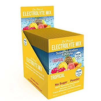Electrolyte Mix Super Hydration Formula + Trace Minerals   New! Tropical Flavor  30 Powder Packets  Sports Drink Mix   Dr Price s Vitamins   No Sugar Non-GMO Gluten Free & Vegan