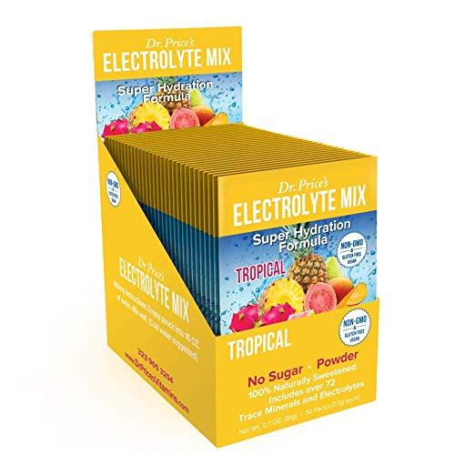 cheap Electrolyte Mixture Super Hydration Formula + Micronutrients | New! Tropical fragrance (30 powder …
