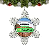 Umsufa USA America Pikes Peak Colorado Springs Christmas Ornament Tree Decoration Crystal Metal Souvenir Gift