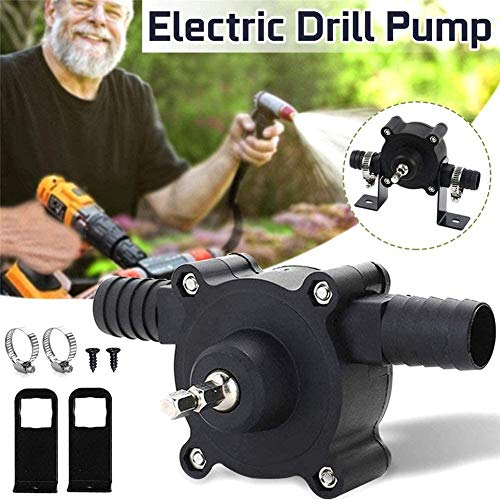 MRLZLT Mini Portable Electric Drill Pump,Hand Electric Drill Drive Self Priming Pump Oil Fluid Water Transfer Pump