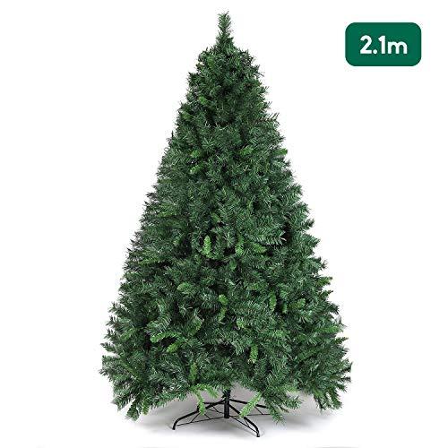 Salcar - Albero di Natale con 868 punte in pino artificiale con supporto in metallo, 210 cm