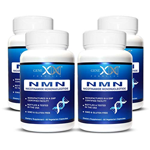 Genex NMN Stabilized Form 250mg Serving Nicotinamide Mononucleotide Direct NAD+ Supplement More Stable Than Riboside Works Best When Paired with Resveratrol. 4-Pack