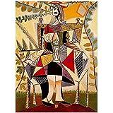 Famoso pintor español serie Picasso cuadro de pintura decoración de la sala de estar del hogar para la estética de la habitación 60x80 cm x1 sin marco