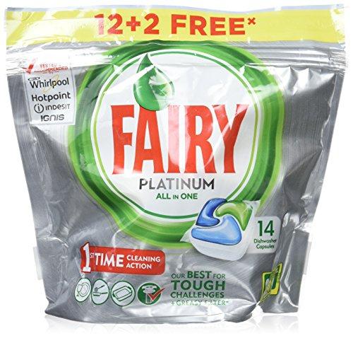 Fairy Platinum Original – Cápsulas de Lavavajillas – Pack de 14 unidades