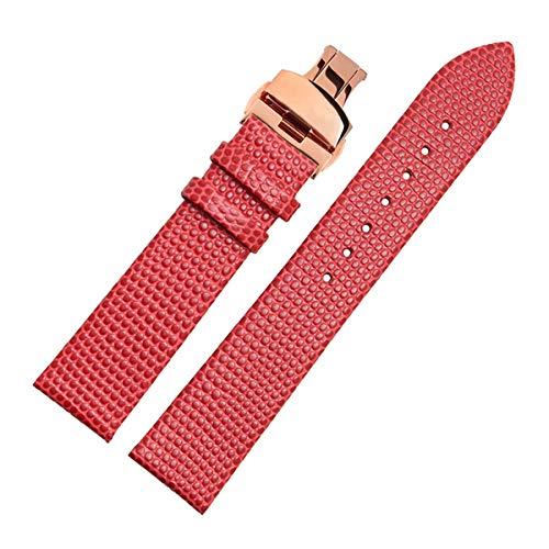 12mm / 14 mm / 16 millimetri / 18 millimetri / 20mm in pelle Nero Marrone Cinturino Bracciale Donne uomini di fascia oro rosso Buckle 18mm