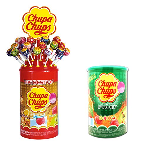 Chupa Chups - Hámster Compra Set, Emergencia vorrats Pack, Fruta piruleta Lollipop, Best of, 200 Unidades