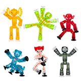 Zing Stikbot Monsters, Complete Set of 6 Stikbot Poseable Monster Action Figures, Includes Giggles, Goblin, Insector, Grim, Aquafang and Kyron