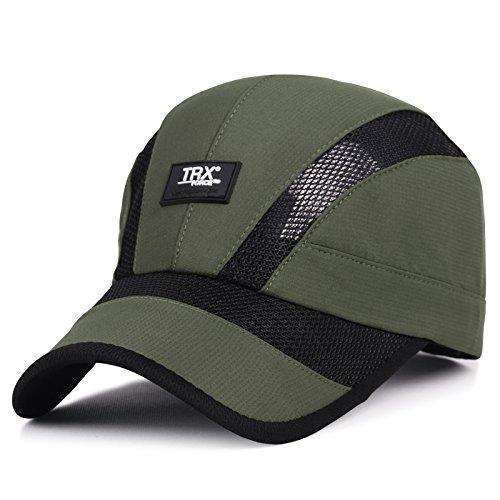 XBR Chapeau Summer Parasol Hat à l'extérieur de la Mode pour Hommes sur la pac Casquette de Base - Ball Vert Militaire