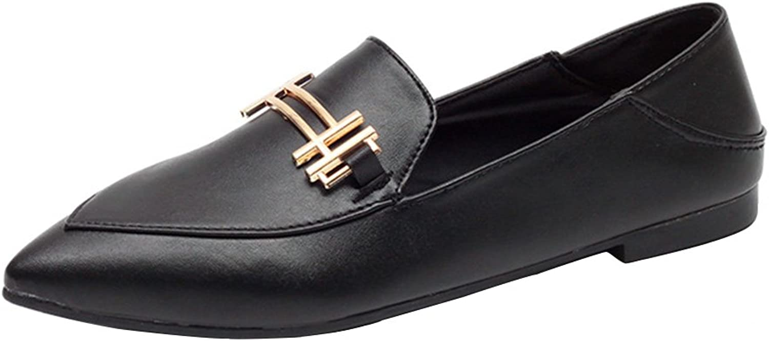 Kyle Walsh Pa Women's Fashion Black Pointed Toe Loafers Slip-ONS