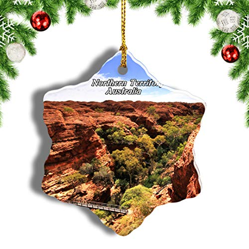 Weekino Australia Kings Canyon Northern Territory Christmas Ornament Travel Souvenir Tree Hanging Pendant Decoration Porcelain 3' Double Sided