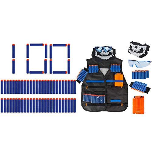 Little Valentine 100-Dart Refill Pack + Tactical Vest Kit for Nerf Guns N-Strike Elite Series