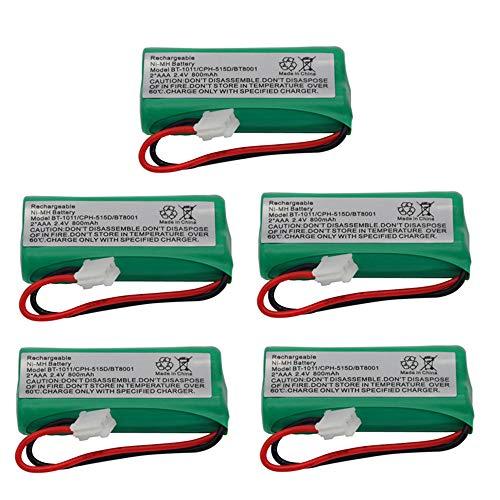 rpbll Batería para teléfono inalámbrico Ni-MH de 2.4V 800