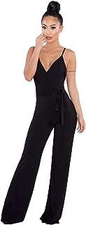 ZYUEER Tutina Jumpsuit Elegante Vintage Vita Alta Sciolto Casual Tuta da Donna Senza Maniche con Stampa Floreale Femminile