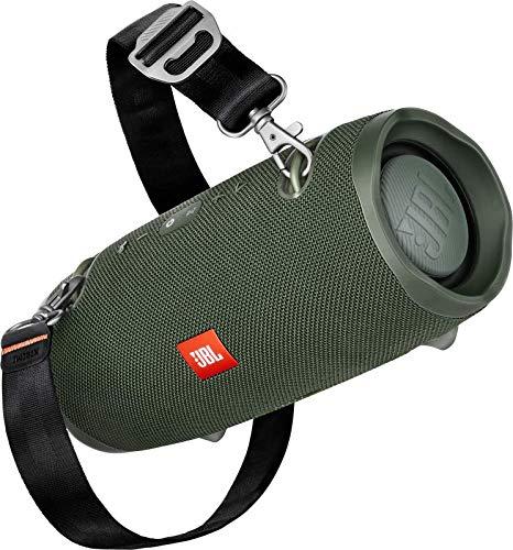 JBL Xtreme 2 Musikbox - Wasserdichter, portabler Stereo Bluetooth Speaker mit integrierter Powerbank - Mit nur einer Akku-Ladung bis zu 15 Stunden Musikgenuss Grün
