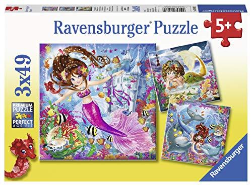 Ravensburger Kinderpuzzle 08063 - Bezaubernde Meerjungfrauen - 3 x 49 Teile