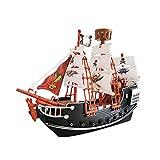 Maquette de Bateau Pirate, Kit de Modelage de Voilier en Bois, Kit de Construction pour Les Jeunes Passionnés de Pirates Et de Modèles de Bateaux, Cadeau d'anniversaire Ou de Noël pour Les Enfants