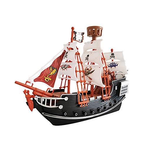 Modelo de Barco Pirata, Los niños los simulan Jugar Barco Pirata Jugar Treaure Pirata Figuras de Juguete, Adornos de decoración del hogar, Divertido Regalo para Niños y Adultos