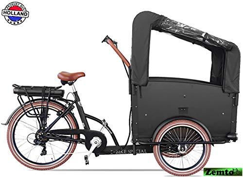 Elektro Transportfahrrad/Bakfiets Vogue Troy 7 Gang DR Schwarz-Braun*