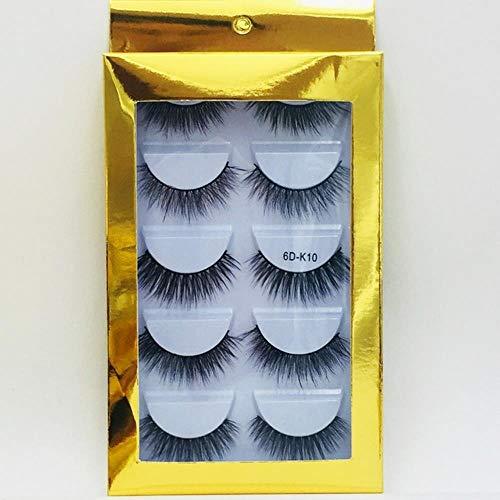XZY Mixed Styles Hair False Eyelashes Handmade Long Eyelash Wispy Fluffy Multilayer Lashes Reusable,10