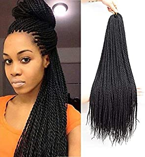 VRUnique (22 Inch (7 Count), 1B#) Senegalese Twist Crochet Hair Braids Small Havana Mambo Twist Crochet Braiding Hair Senegalese Twists Hairstyles For Black Women 30 Strands/Pack