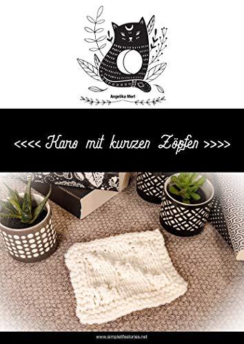 Strickanleitung: Karo mit kurzen Zöpfen: Karo für die Kuscheldecke selber stricken