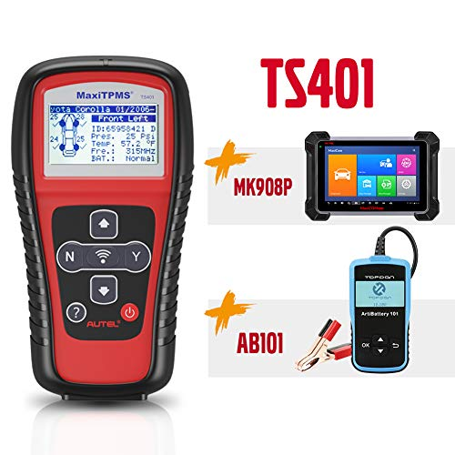 Autel Best Match Maxisys Pro MK908P(MS908P/MS908SP)+TS401+Free Car Battery Tester AB101|MK908P OBD2 Diagnostic Scanner for ECU Coding, Active Test, J2534 Reprogramming (Same as Maxisys Elite,| TS401