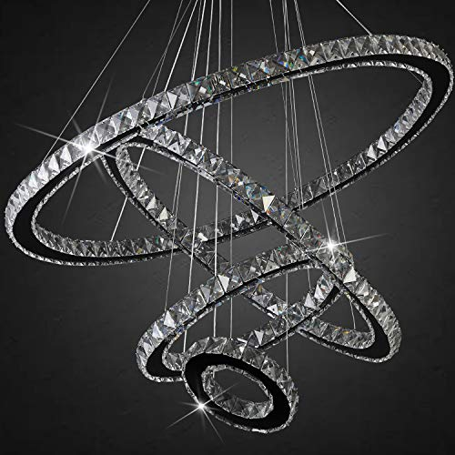 Arxeel Contemporary LED 8-Light Modern Crystal Chandelier