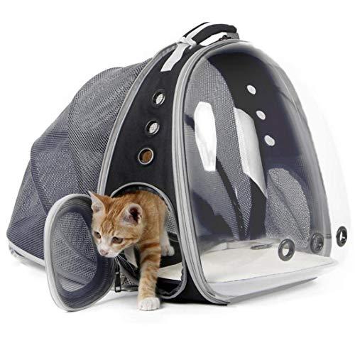 YZLSM Portador del Gato del Gato Bolsa Cápsula Espacial Mochila Expandible Burbuja Transparente para Mascotas Pequeño Perrito Portadores del Perro para Viajar Al Aire Libre Bolso del Animal Doméstico