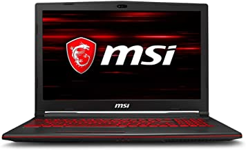 "MSI GL63 8RD-210US Gaming Laptop i7-8750H GTX 1050Ti 4GB, 8GB RAM, 256GB SSD + 1TB HDD, 15.6"""