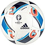 adidas Herren Ball EURO 2016 Training Pro, White/Bright Blue/Night Indigo, 5