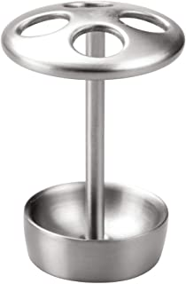iDesign Forma Toothbrush Holder for Bathroom Vanities, Brushed Stainless Steel, 22060ES