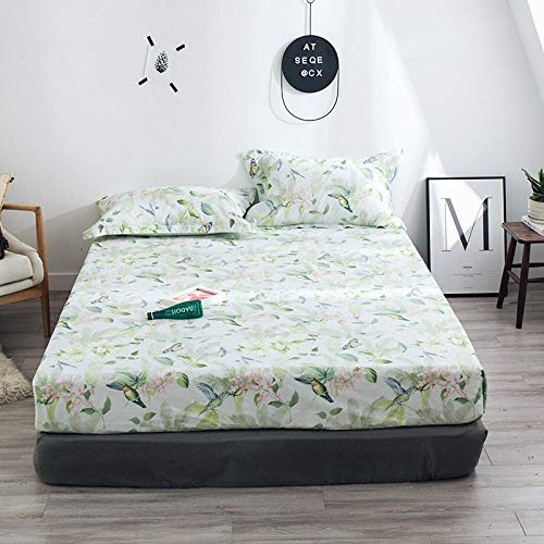 HPPSLT colchón Acolchado, antialérgico antiácaros, Sábana de algodón impresa-23_180 * 200cm