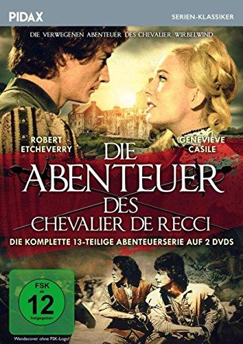 Die Abenteuer des Chevalier de Recci (Chevalier Wirbelwind) / Die komplette 13-teilige Abenteuerserie (Pidax Serien-Klassiker) [2 DVDs]
