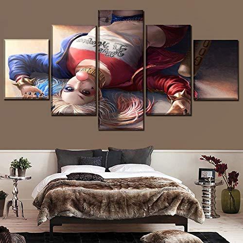 Yxsnow 5 Cuadro sobre Lienzo Sin Marco Mural Decoración del hogar Super película Garza Suicidio Impresiones En Lienzo Obras de Arte y Material Decorativo
