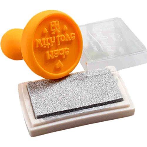 3 PCS Tampon Inkpad Costume DIY jouets Artisanat Stamp (Orange)