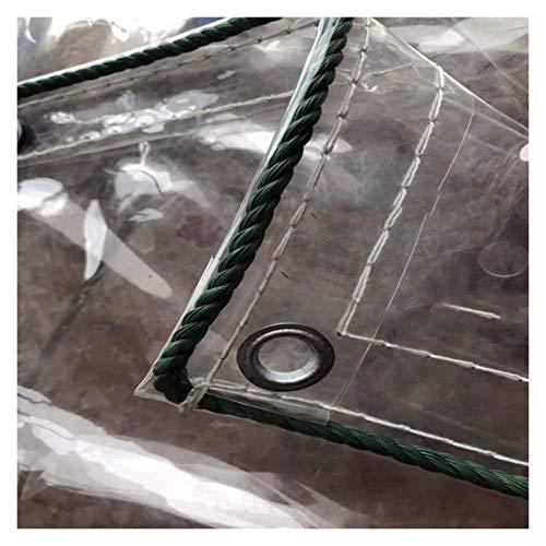 LXHONG Lona Impermeable Resistente, Lonas Plegables, Cubiertas para Muebles De Jardín Impermeable Fácil De Limpiar Plantas Cobertizo De Verduras CLORURO DE POLIVINILO, Personalizable