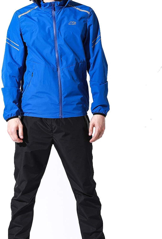 Wuxingqing Gym Wear Fitness Bekleidung Set Mnner Anzug Workout Schwei Anzug Gewichtsverlust Abnehmen Fitness Gym übung (Farbe   Blau, Größe   XXXXL)