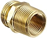 Dixon Valve & Coupling BA776 Brass Fitting, Adapter, 3/4' GHT Male x 3/4' NPTF Male