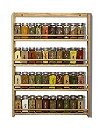 Wooden wall mounted spice rack