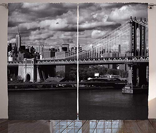 chinawh Verdunkelungsvorhänge Für Wohnzimmer Stadt Architektur London Bridge 170X200Cm Superfeine Faser Lärmminderung Ösenvorhang Blickdicht Thermo Vorhang Verdunkelungsvorhang 3D Drucken Für Wohnzimm