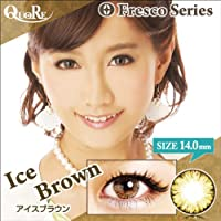 カラコン 度なし 1箱2枚入り QuoRe Fresco Series/ソブレ/119227 14.0mm【IceBrown--0.00】