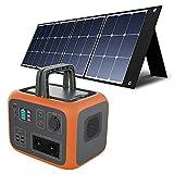 PowerOak Bluetti AC50S 500Wh Generador Solar Portátil con 1 Pieza Panel Solar 120W, Generador Electrico Solar con Salidas AC/DC/USB Power Station con Batería de Litio para Camping Autocaravan