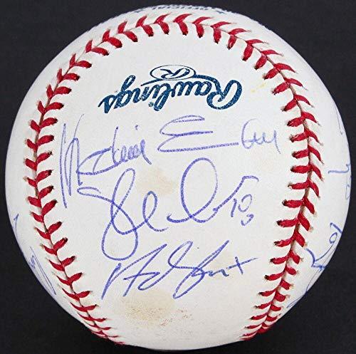 Anaheim Angels 2004 Team Signed Ball Molina Reineke Lackey Guillen F-rod Kennedy - Autographed Baseballs