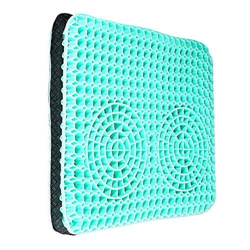 TOCO FREIDO Gel Seat Cushion Non-Slip Cover is Breathable and Has an Innovative Honeycomb Gel Structure Suitable for Cars, Offices and Wheelchairs