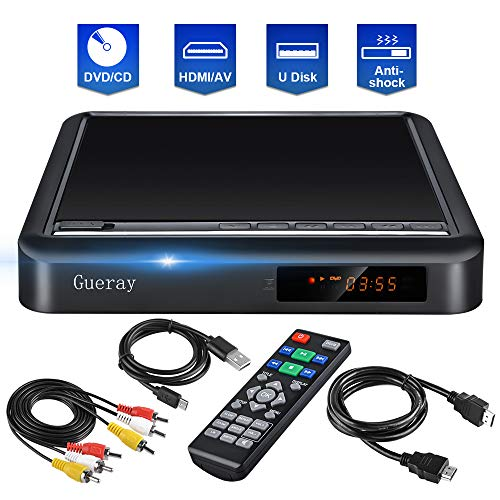 Lowest Price! Gueray DVD Player for TV CD Player Portable Disc Player HDMIAV Port USB Port Upscaling...